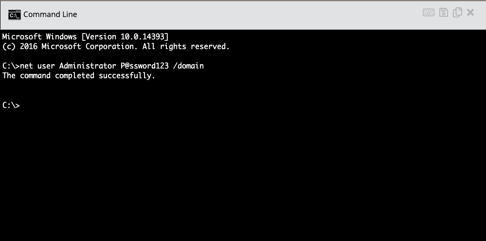 , Reset Domain Administrator Password using Command Line and RMM