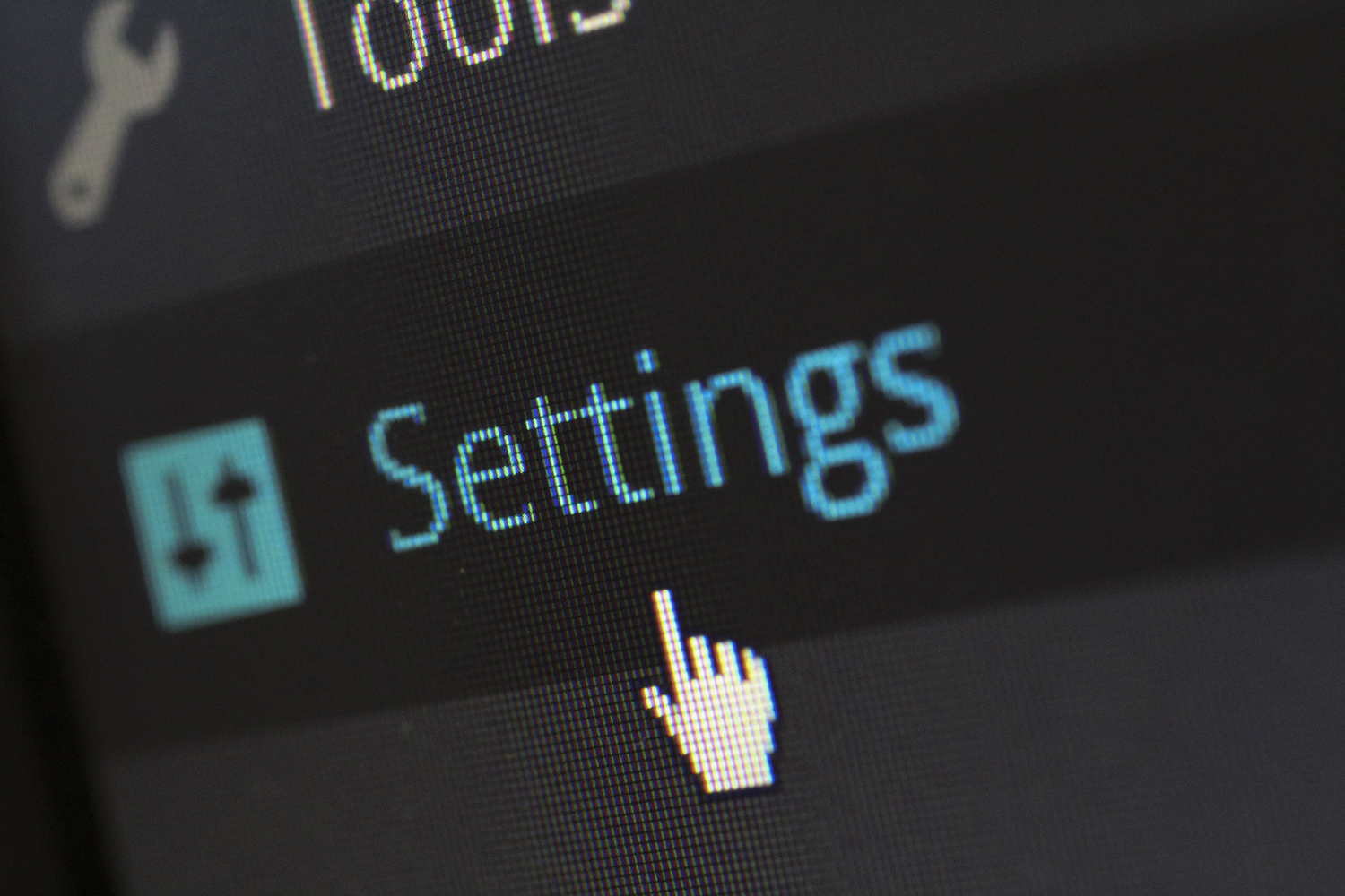 settings feature of wordpress