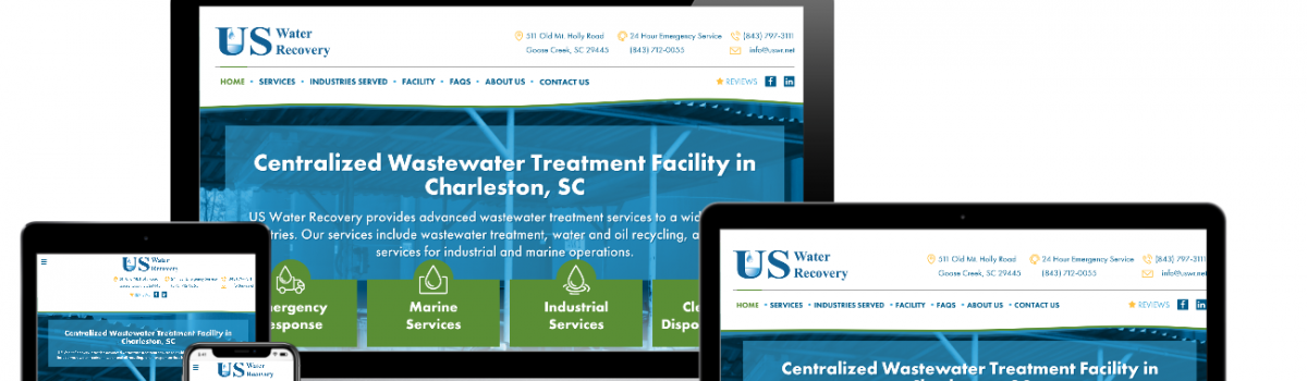 US Water Recovery: Website Design and Content Writing